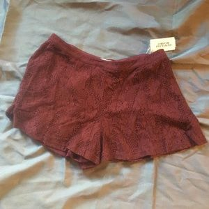 NWT Forever 21 Lace Shorts